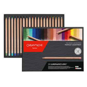 Caran d'Ache Luminance Colored Pencil 20 Color Portrait Set