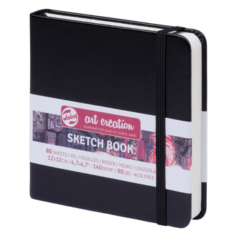 Talens Art Creation Sketchbook Black Square 12cmx12cm