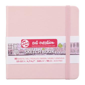 Talens Art Creation Sketchbook Pastel Pink Square 12cmx12cm