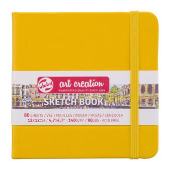 Talens Art Creation Sketchbook Golden Yellow Square 12cmx12cm