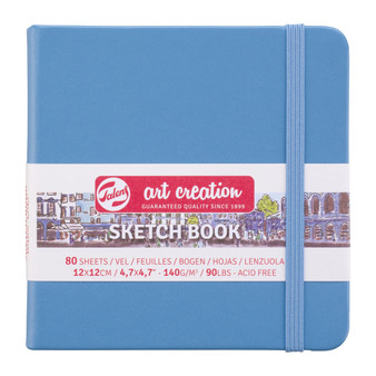 Talens Art Creation Sketchbook Lake Blue Square 12cmx12cm