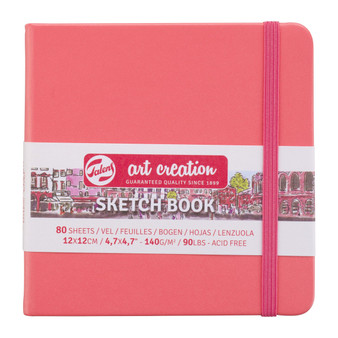 Talens Art Creation Sketchbook Coral Square 12cmx12cm