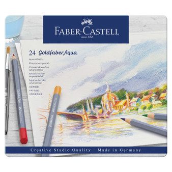 Faber-Castell Goldfaber Watercolor Pencil Tin of 24