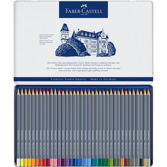Faber-Castell  Goldfaber Watercolor  Pencils 36 Color Tin