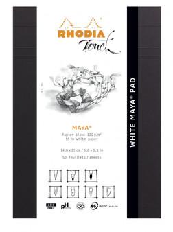 Rhodia Touch Pad A4 Maya Dot White