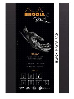 Rhodia Touch Pad A4 Maya Dot Black