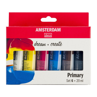Amsterdam Acrylic 20ml 6 Tube Primary Set