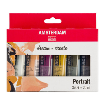 Amsterdam Acrylic 20ml 6 Tube Portrait Set
