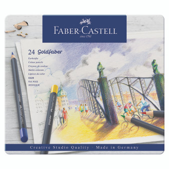 Faber-Castell Goldfaber Colored Pencil Tin Set of 24