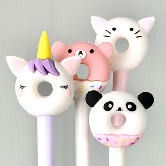 BC Mini Toy Pen Donut Animal Gel Pen