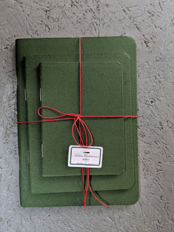 Antica Cartotecnica Set of 3 Green Blank Journals
