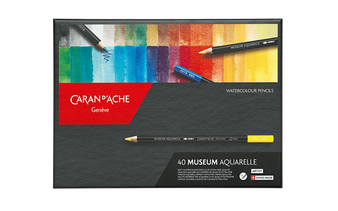 Caran d'Ache Museum Watercolor Pencil 40 Color Set
