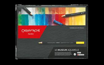 Caran d'Ache Museum Watercolor Pencil 40 Color Set