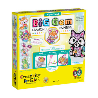 Creativity for Kids Big Gem Diamond Painting – Woodland