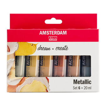 Amsterdam Acrylic 20ml 6 Tube Metallic Set