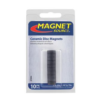 """Magnet Source Ceramic Magnets 1/2"""" 10/Pack"""