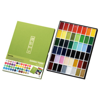 Kuretake Zig Gansai Tambi Watercolor Sets 48 Colors