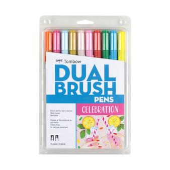 Tombow Dual Brush Marker Set of 10 Celebration