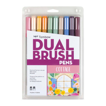 Tombow Dual Brush Marker Set of 10 Cottage