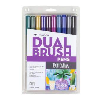 Tombow Dual Brush Marker Set of 10 Boho