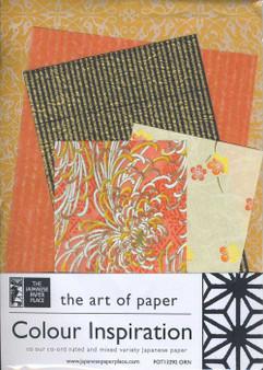 Japanese Paper Place Colour Inspiration Paper Pack Orange