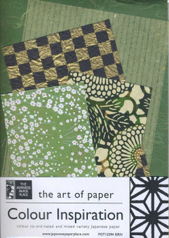 Japanese Paper Place Colour Inspiration Paper Pack Green