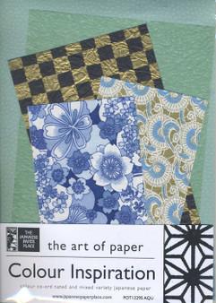 Japanese Paper Place Colour Inspiration Paper Pack Aqua