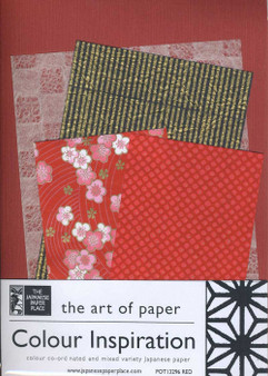 Japanese Paper Place Colour Inspiration Paper Pack Red