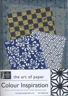 Japanese Paper Place Colour Inspiration Paper Pack Blue