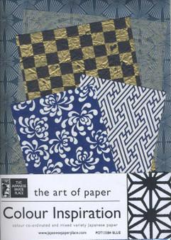 Japanese Paper Place Colour Inspiration Paper Pack Blue