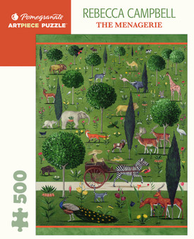 Pomegranate 500-piece Jigsaw Puzzle Rebecca Campbell: The Menagerie