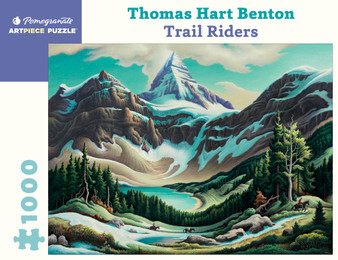 Pomegranate 1,000-piece Jigsaw Puzzle Thomas Hart Benton: Trail Riders