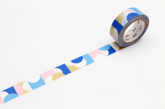 MT Washi Tape Half Circle Pink Blue