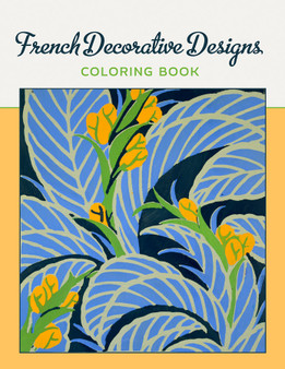 Pomegranate Coloring Book French Decorative Designs