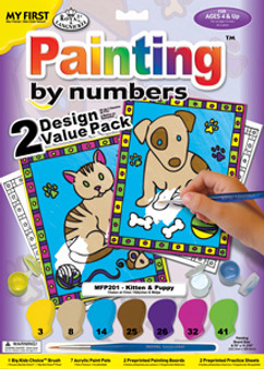 Royal & Langnickel Paint By Number My First 2 Pack Kitten & Pup