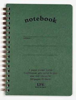 Life Stationery Pocket Notes Green B6