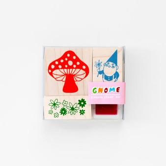 Yellow Owl Workshop Rubber Stamp Kit Gnome & Mushroom