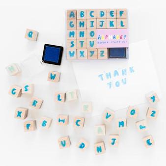 Yellow Owl Workshop Rubber Stamp Kit Alphabet