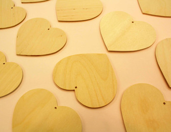 Wooden Cut-out Ornament Heart