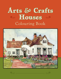 Pomegranate Arts & Crafts Houses Coloring Book