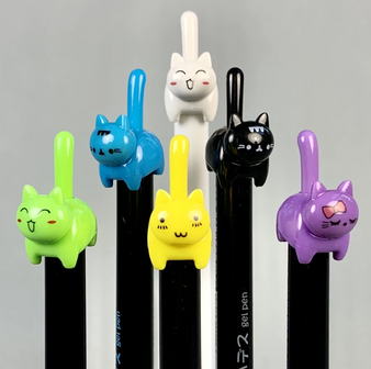 Cat Tail Retractable Gel Pen