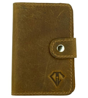 Dee Charles Pen Wipe Case Saddle Brown