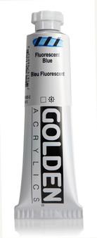 Golden Acrylic Heavy Body 2oz Fluorescent Blue