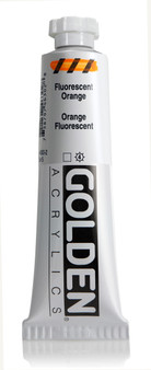 Golden Acrylic Heavy Body 2oz Fluorescent Orange