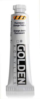 Golden Acrylic Heavy Body 2oz Fluorescent Orange-Yellow