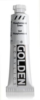 Golden Acrylic Heavy Body 2oz Phosphorescent Green