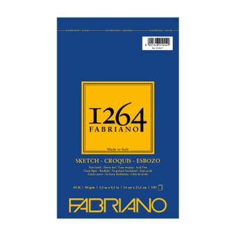Fabriano 1264 Sketch Wirebound Pad 5.5X8.5 100 Sheets