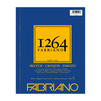 Fabriano 1264 Sketch Wirebound Pad 9X12 100 Sheets