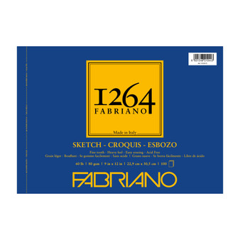 Fabriano 1264 Sketch Wirebound Pad 12X9 100 Sheets