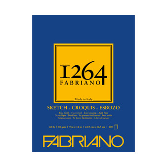 Fabriano 1264 Sketch Pad 9X12 100 Sheets
